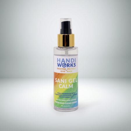 Sani Gel Calm Scented Hand Sanitiser (2 pack, 100ml spray bottles)