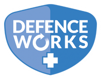 Defenceworks Logo with stroke