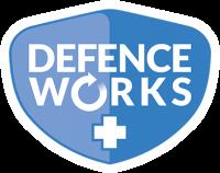 Defenceworks Logo with stroke